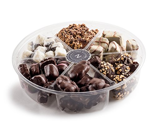 The Nuttery Deluxe Holiday 6 section Git Tray- Chocolate Variety Gift Giving Set