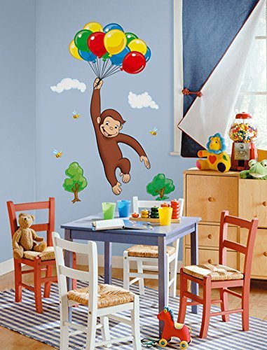 (Curious George Balloons Repositional Wall Decal by Curious George)