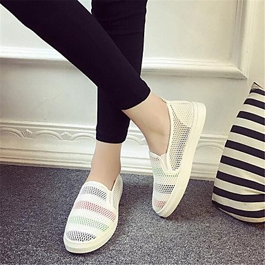 Mujer RTRY US7 Confort EU38 Lienzo Sneakers Informal 5 5 Plano UK5 CN38 De Blanco La Confort Pu Resorte p545qfAw