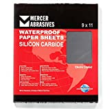 Mercer Industries 220400A Grit 400 A-Weight 9'' x 11'' Silicon Carbide Waterproof Paper Sheets (50-Pack)