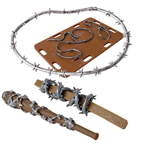 Barbed Wire Figure Gear Deal 11 for WWE Wrestling Action Figures (Toy Wwe Weapons)