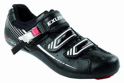 Exustar-chaussures pour vélo de course-noir/blanc/rouge, 11139