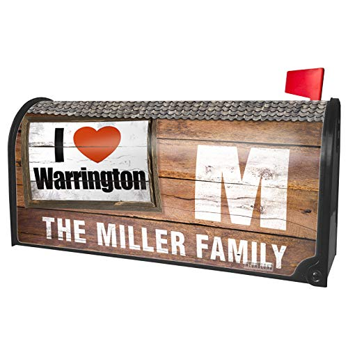 NEONBLOND Custom Mailbox Cover I Love Warrington Region: North West England, England