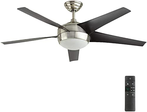 Windward IV 52 in. LED Indoor Brushed Nickel Ceiling Fan