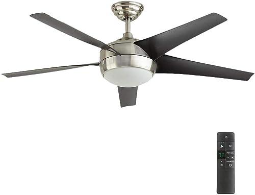Windward IV 52 in. LED Indoor Brushed Nickel Ceiling Fan