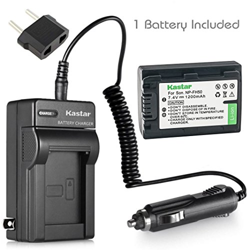 Kastar Battery (1-Pack) and Charger Kit for Sony NP-FH50, NP-FH40, NP-FH30, NP-FP50, NP-FP51 work with Sony DSLR-A230, DSLR-A330, DSLR-A290, DSLR-A380, DSLR-A390, HDR-TG1E, HDR-TG3, HDR-TG5, HDR-TG5V, HDR-TG7, DSC-HX1, DSC-HX200,?DSC-HX100V by Kastar