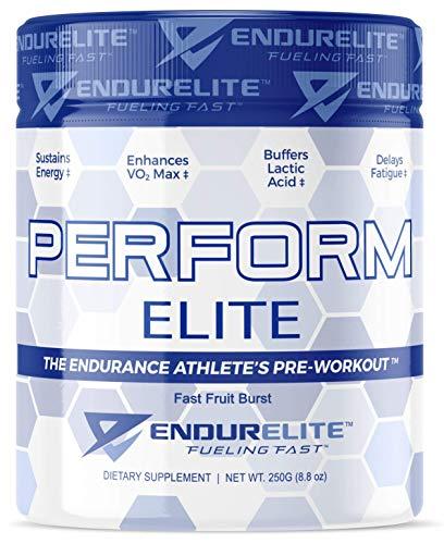 EndurElite PerformEliteTM - The Endurance Athlete's Pre-Workout, Fast Fruit Burst, 25 Servings, with 215 mg Caffeine, 3.2 g Beta Alanine, 1 g Peak O2, Beet Root & More