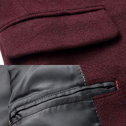 À Simples Business Grey Vêtements Revers Manteaux Manteau D'extérieur En Pardessus Longues Manches Survêtement Slim Coupe Mens vent Laine Jingrong Fit Oa1wgYqw
