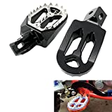 Alpha Rider Motorcycle Billet CNC Wide Foot Pegs Pedals Foot Rests For Honda Offroad CR125 / CR250 2002 - 2008   CRF150R 2007 - 2015   CFR 250X / 250R 2004 - 2015   CRF 450X / 450R 2002 - 2015 Black