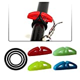 Cheap 8pcs/pack Fishing Rod Hook Keepers Fishing Lure Spoon Bait Holder 1 Hook Keeper with 3 Sizes Elastic Rubber Rings 4 colors