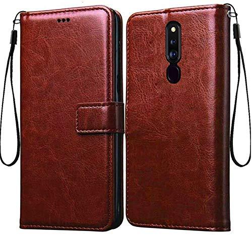 covernew mercury wallet Flip Cover for mi redmi 8   black::brown