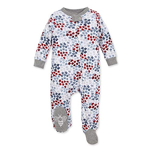 Burts Bees Baby Baby Sleep /& Play-Girls 6-9 Months Bunny Trail Boys Footed One-Piece Organic Cotton