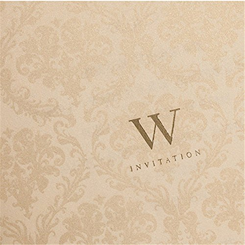 Engagement White Laser Cut Couples Wedding Invitations Elegant Hollow Groom & Bride Dinner Party Invite Cards CW010 (100) by Wishmade (Image #2)