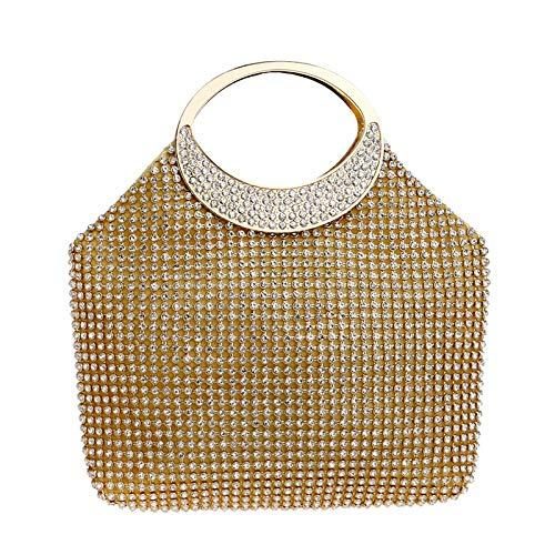 Diamante Da Festa Sera Borse Maniglia Polso Donna Ballo Matrimonio Borsa Pochette Top Anello Clutch Borsa Gold Borsa Da Metallo dWa8PAf1q8