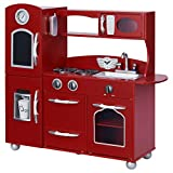 My Little Chef Teamson Kids Wooden Play Kitchen Set (1 Piece), Red, One Size