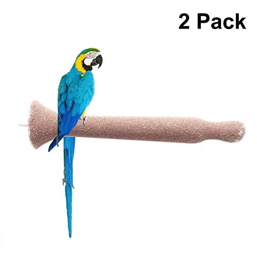 Yunt-11 Juego de Perchas de Madera para pájaros de 2 Piezas ...