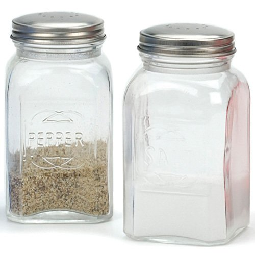 Rsvp Salt (RSVP Retro Clear Glass Salt and Pepper Shaker Set)