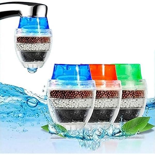 MITOBOM - Filtro de agua para grifo (3 unidades, cartucho de carbono, filtro purificador de agua): Amazon.es: Hogar