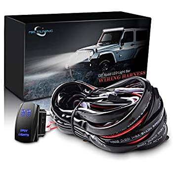 51bG0fjz54L._SL500_AC_SS350_ amazon com mictuning hd 300w led light bar wiring harness fuse 40 jet stream light bar wiring diagram at alyssarenee.co