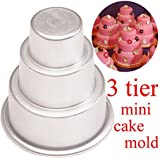 Perfect shopping Mini 3-Tier Cupcake Pudding Chocolate Cake Mold Baking Pan Mould Party