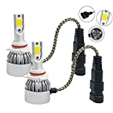 xenon universal fog lights - Mega Racer 9006 HB4 6000K Ultra Bright White (Fog Light Headlight) CREE COB C6 LED Xenon Kit 7600LM 72W Automotive