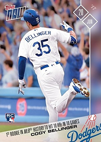 - 2017 Topps Now Baseball #272 Cody Bellinger Rookie Card - First Rookie in MLB History to Hit 10 Home Runs in 10 Games - Only 2,257 made!