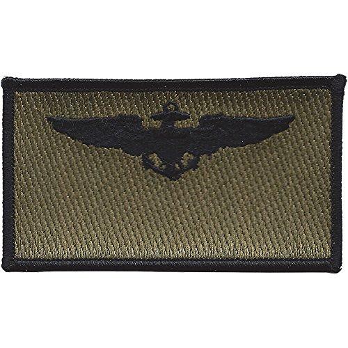 Navy Aviation Pilot Black Wings OD Patch ()