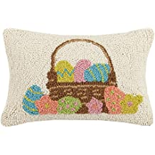 Peking Handicraft Easter Basket Hook, 8x12 Throw Pillow