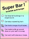 quilt hanging system - Super Bars ! (TM) Invisible quilt fabric rug tapestry hanger: The economy invisible hanging system, hangs from two special drywall screws -- from 9