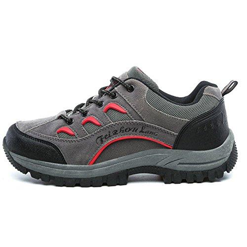 Homme Coolcept Randonnee Sports Chaussures Bottes Exterieur Gray QthdsrC