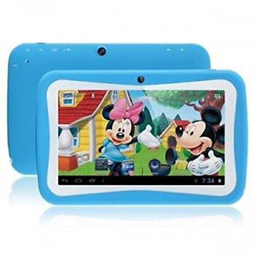 Wopad 7inch Kids Tablet Google Android 4.4 Quad Core Multi-Touch Screen 8GB Hard Drive Pre-Installed Games and Apps, Google Play Store, Kids Desktop etc Pink (Blue)
