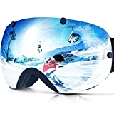 ZIONOR Lagopus Snowmobile Snowboard Skate Ski Goggles with Detachable Lens