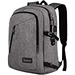 Laptop Backpack, Travel Computer Bag for Women & Men, Slim Business Backpack w/USB Charging Port,Anti Theft Water Resistant College School Bookbag 4