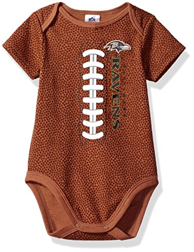 NFL Baltimore Ravens Unisex-Baby Football Bodysuit, Brown, 6-12 Months]()