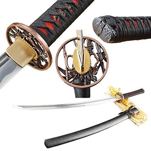 Handmade Katana Real Sharp Full Tang 1060 Carbon Steel Japanese Samurai Sword Can Customize