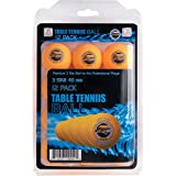 Sportly  3 Star 40mm Training Table Tennis Balls (Orange, 12)