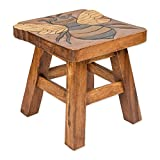 Bumble Bee Hand Carved Acacia Hardwood Decorative Short Stool