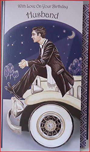 Art Deco With Love On Your Birthday Husband Birthday Card