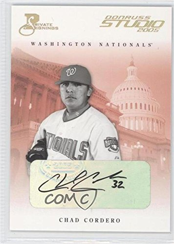 - Chad Cordero #20/50 (Baseball Card) 2005 Donruss Studio - [Base] - Private Signings Gold [Autographed] #293