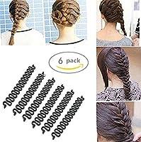 Healtheveryday® 6PCS Fashion French Hair Styling Clip Stick Bun Maker Braid Tool Hair Accessories Twist Plait Hair Braiding Tool (Black)