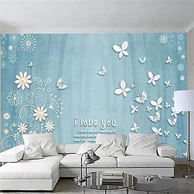 Wallpaper Murals 3D Beautiful Small Fresh Pearl Flower Butterfly