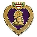 PinMart Purple Heart Veteran Medal Military Enamel Lapel Pin