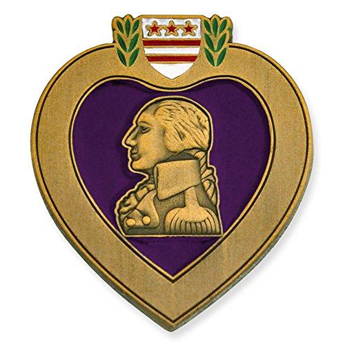 Military Medal Heart (PinMart Purple Heart Veteran Medal Military Enamel Lapel Pin)