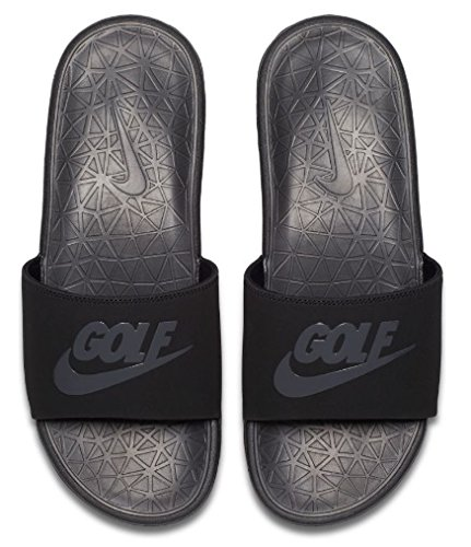 f5337c35f231 Galleon - Nike Benassi Solarsoft 2 Men s Golf Slides (Black