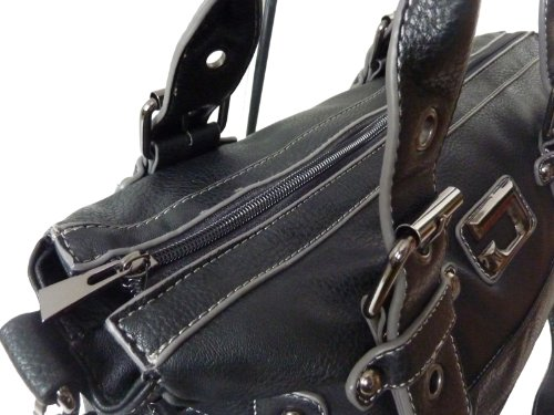 Bolso Moderno Jennifer Jones Mujer Bolsa Bag carroun–Bolso (Black) negro