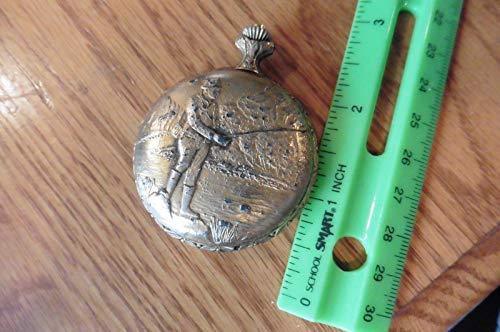 Gold Tone Vintage Pocket Watch - Marcel Pocket watch gold tone fishing fisherman vintage 17 jewels shockresistant
