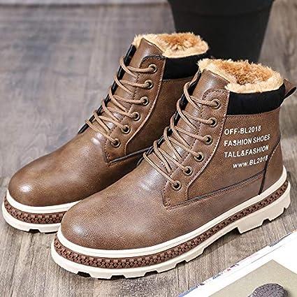 LOVDRAM Chaussures en Cuir pour Hommes Nouveaux Bottes d