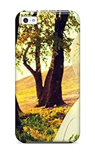 New Married Couple Under Umbrella Kiss Under Tree Tpu Case Cover, Anti-scratch TaSeBvV9354WZgKh Phone Case For Iphone 5c Sending Screen Protector in Free