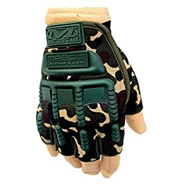 Mra Fashion Military Rubber Hard Knuckle Half Finger Outdoor Gloves for Cycling Motorcycle (Standard)