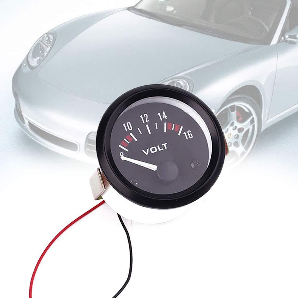 Wlgreatsp Auto DC Digital 8-16 V Panneau LED Voltm/ètre 1 x 52 mm LED num/érique Voiture Voltm/ètre Tension Panneau Voltm/ètre Affichage DC 12 V 24 V